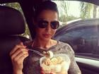 Gracyanne Barbosa mostra marmita do dia: macarrão e ovos