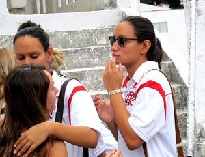 enterro Marcela Pereira nado sincronizado (Foto: Leonardo Filipo)