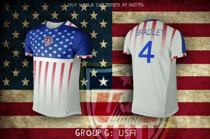 Blog da Copa - design camisa dos Estados Unidos
