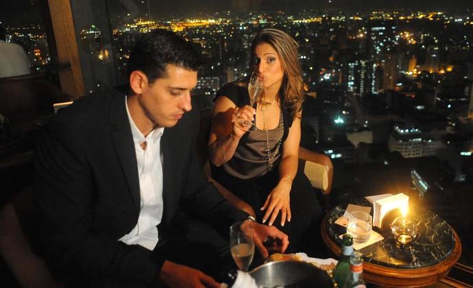 vôlei dani lins sidão jantar romântico (Foto: Marcos Ribolli / Globoesporte.com)