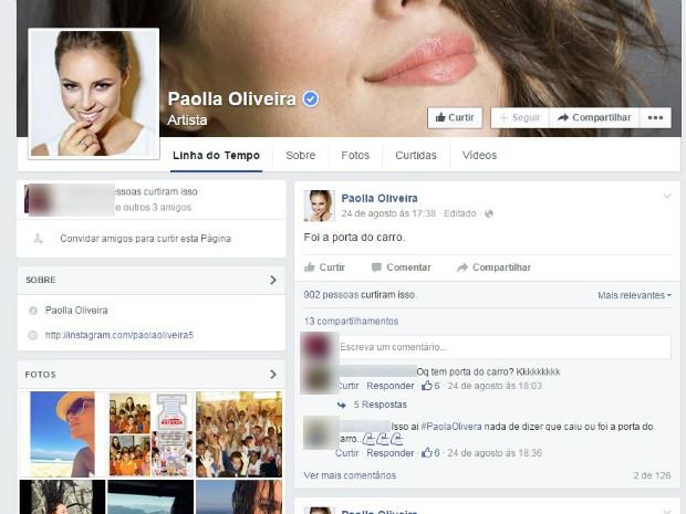 Paolla Oliveira foi uma das personalidades que participaram da ação (Foto: Reprodução / Internet)
