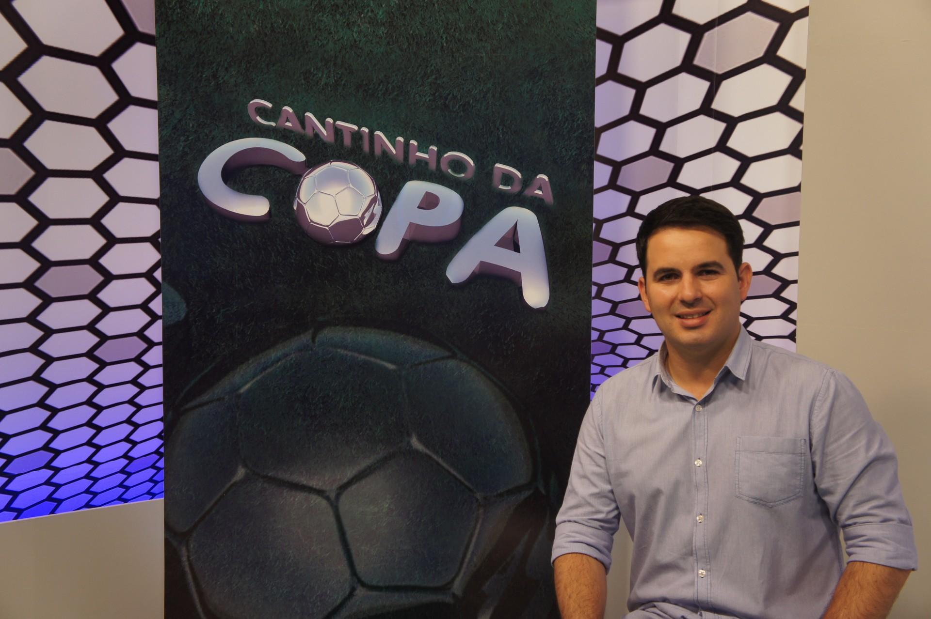Plínio Almeida no Cantinho da Copa (Foto: Tayná Alexandre/TV Cabo Branco)