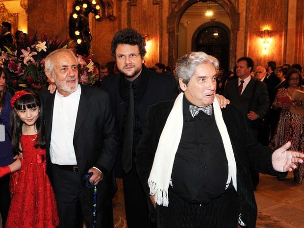 Larissa Manoela, Paulo José, Selton Mello e Domingos de Oliveira (Foto: G1/Alexandre Durão)
