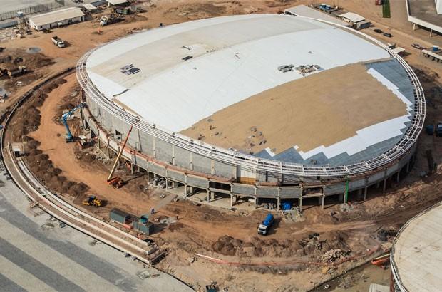 Velódromo tem 70% das obras concluídas (Foto: Renato Sette Câmara / Prefeitura do Rio)