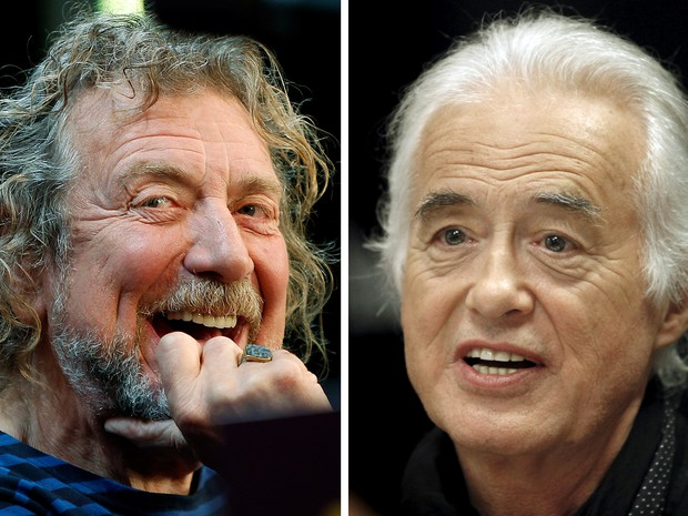 Robert Plant (à esquerda) e o guitarrista Jimmy Page, do Led Zeppelin (Foto: REUTERS/Carlo Allegri, Hans Deryk/File photos)