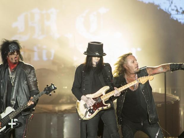 Mötley Crüe toca no Palco Mundo antes do Metallica (Foto: Luciano Oliveira/G1)