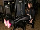 Tamires Peloso posa para o EGO na academia e mostra um pouco de sua série de exercícios