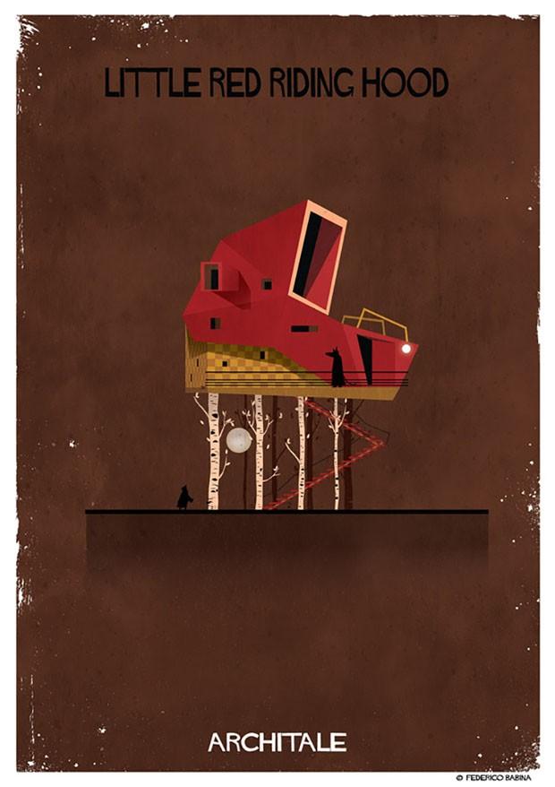 Ilustrador cria casas inspiradas em contos de fadas (Foto: Federico Babina)