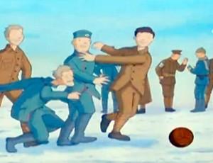 """""""Trégua de Natal"""" promoveu dias de paz nas trincheiras (Foto: Reprodução SporTV)"""