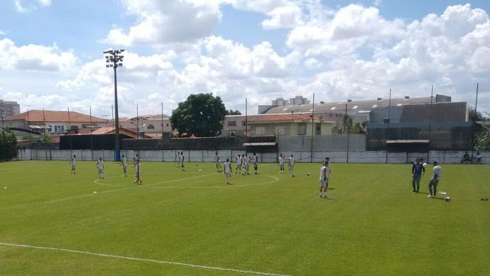 Porto-PE faz a preparação para a estreia na copinha, em Santo André (Foto: Manoel Messias Medeiros)