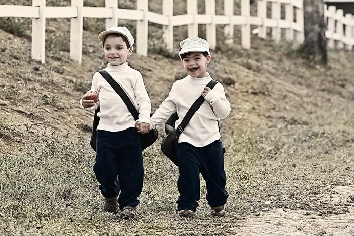 Os gêmeos Guilherme e Leonardo (Foto: Leonardo Luz/Divulgação)