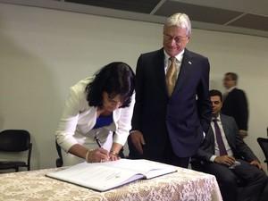 Poliana Santana foi adjuta de Luiz Otávio Gomes na Seplande (Foto: Natália Souza/G1)