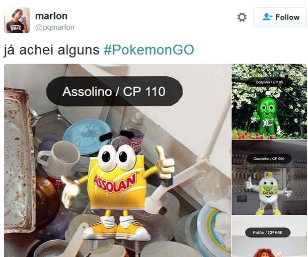Usuário do Twitter faz brincadeira ao inferir que jogadores de Pokémon Go são desocupados e deveriam lavar louça (Foto: Reprodução/Twitter/marlon)