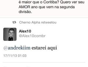 Alex Twitter Coritiba (Foto: Reprodução / Twitter)
