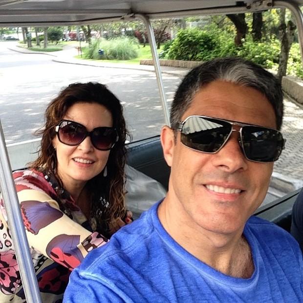 William Bonner e Fátima Bernardes (Foto: Instagram)