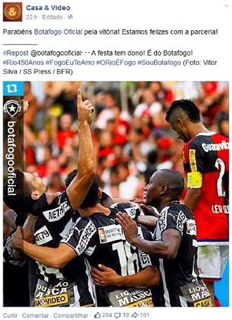 Botafogo casa e vídeo facebook (Foto: Reprodução/ Facebook)