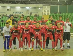 Cajuína, atual campeão piauiense de futsal (Foto: Tiago Crispim)