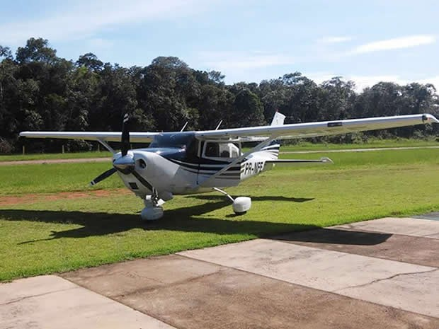 Polícia Federal investiga roubo de aeronave em Sinop, a 503 km de Cuiabá. (Foto: Arquivo Pessoal)