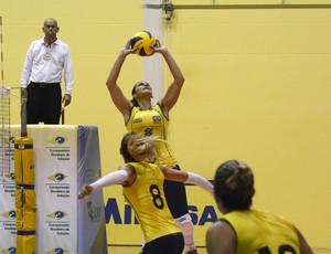 Dani Lins Bárbara Monique (Foto: (Foto: Alexandre Arruda/CBV))