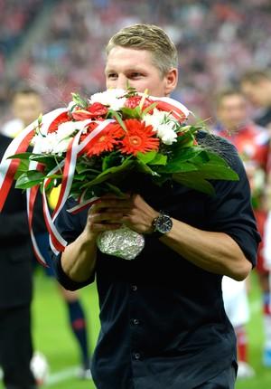 Schweinsteiger Bayern de Munique X Wolfsburg (Foto: Agência AFP)