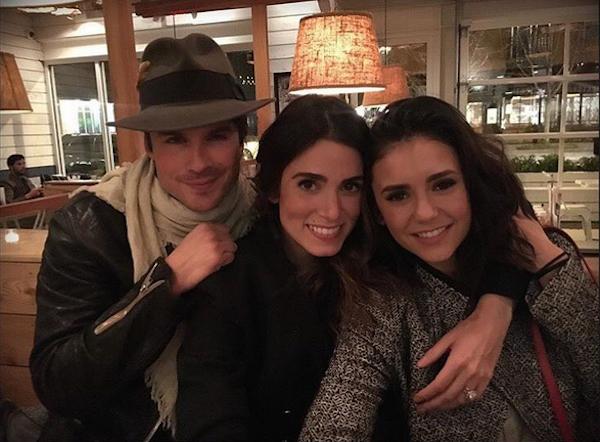 Ian Somerhalder, Nikki Reed e Nina Dobrev (Foto: Instagram)