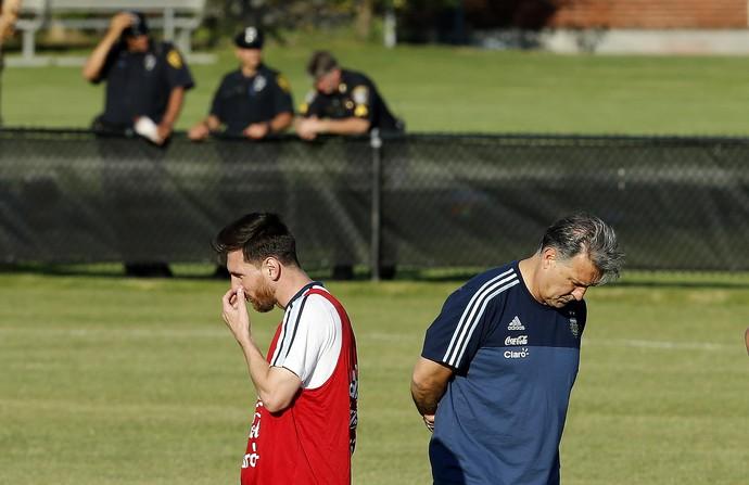 Messi Tata Martino treino Argentina (Foto: EFE)