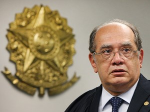 O ministro Gilmar Mendes em audiência no STF, em maio (Foto: Nelson Jr./SCO/STF)