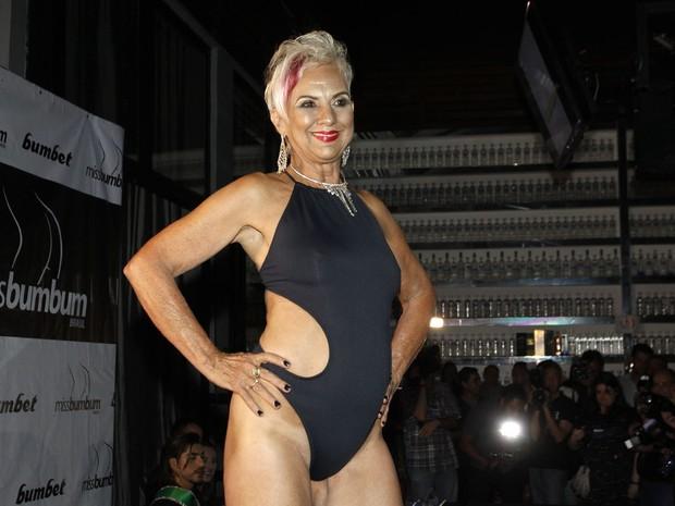 Candidata do Miss Bumbum Melhor Idade, Elisa Gattermayer (Foto: Celso Tavares/ EGO)