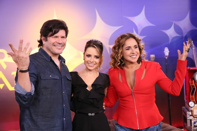 Paulo Ricardo, Sandy e Daniela Mercury responderam as perguntas do Gshow! (Foto: Ellen Soares / Gshow)