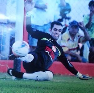 Goleiro do América no Campeonato Amador de Uberlândia, Jonatas Ribeiro (Foto: Jonatas Ribeiro/Arquivo Pessoal)