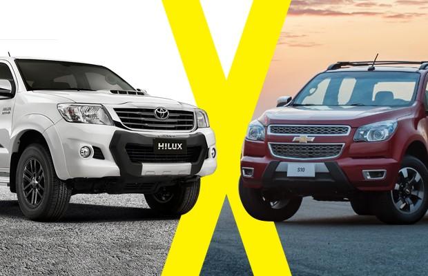 Jogo rápido: Toyota Hilux Limited Edition e Chevrolet S10 High Country (Foto: Autoesporte)