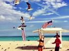 Giovanna Ewbank exibe barriga sarada em Miami