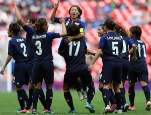  Mizuho Sakaguchi jap&#227;o gol fran&#231;a futebol londres 2012 (Foto: Ag&#234;ncia Getty Images)