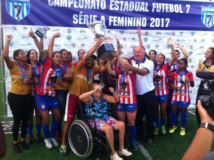 Invictas, meninas do Vila Nova-ES levam o tri do Capixaba de futebol 7 (Foto: Divulgação/Vila Nova FC)