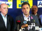 Aécio Neves se reúne com líderes do partido e recebe primeiros apoios