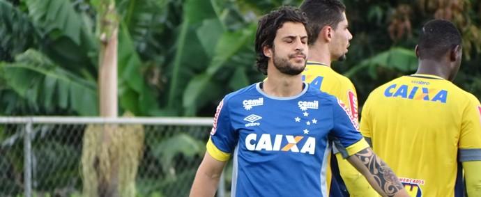 Hudson marcou o primeiro do treindo do Cruzeiro (Foto: Maurício Paulucci)