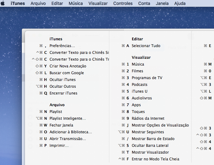 Veja como descobrir todos os atalhos de teclado dos programas no macOS (Foto: Reprodução/Edivaldo Brito)