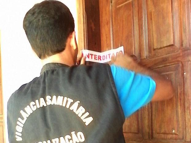 Interdiçái  (Foto: Vigilância Sanitária de Angical/Divulgação)