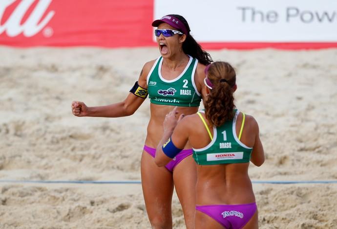 Larissa Talita Grand Slam Moscou vôlei de praia (Foto: Divulgação/FIVB)