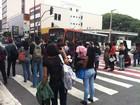 Por causa de problemas com o Fies, alunos protestam no Centro de SP