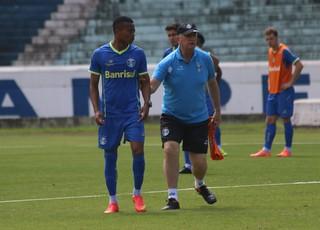 Erik treina no Grêmio (Foto: Eduardo Deconto/GloboEsporte.com)