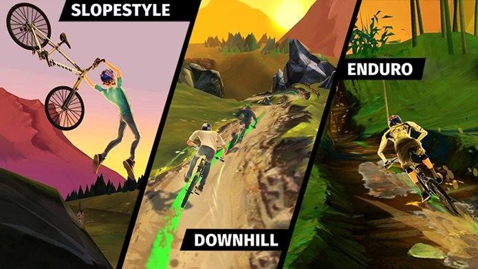 Jogo de bicicletas diverte com jogabilidade simples e gráficos muito bonitos (Foto: Divulgação / RedBull)