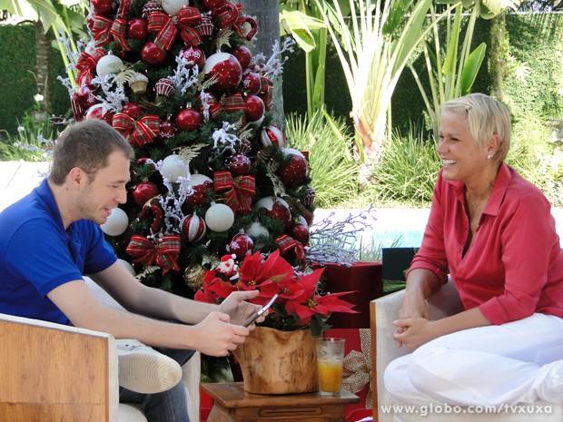 Tiago Leifert é o convidado do Papo X  (Foto: TV Xuxa / TV Globo)