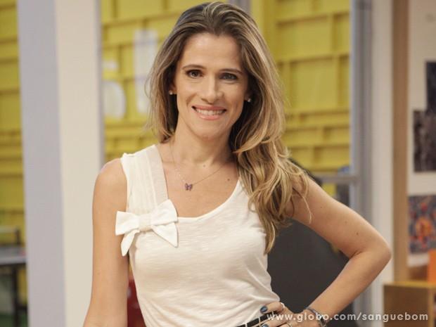 Ingrid interpreta Tina em Sangue Bom (Foto: Sangue Bom/TV Globo)