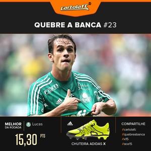 Card Cartola Adidas Quebra a banca rodada 23 - Lucas Palmeiras  (Foto: Editoria de Arte)