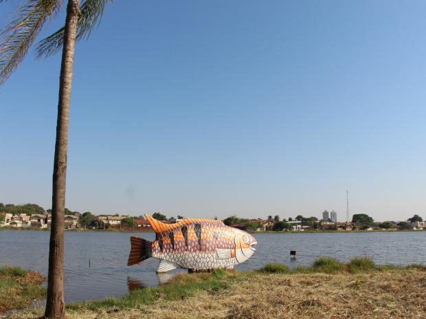 Lagoa Itatiaia (Foto: Gabriela Pavão/ G1 MS)