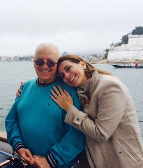 Dia dos Pais TV Tribuna - Rosana Valle com seu pai (Foto: Arquivo Pessoal)