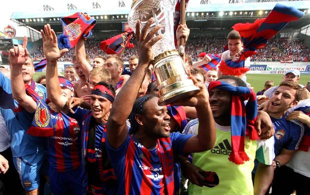 Vagner Love CSKA campeão Rússia taça (Foto: AP)