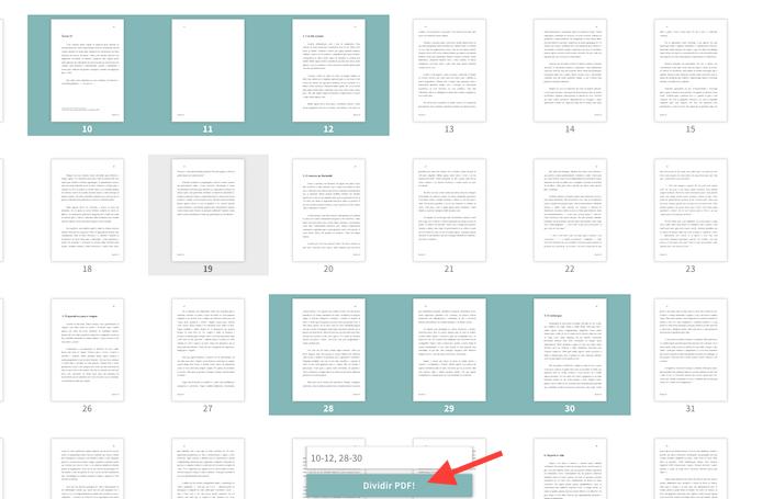 dividir documento pdf: