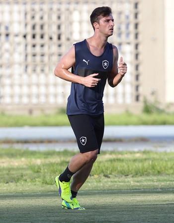 Diego Jardel, treino Botafogo (Foto: Marcio Mercante / Ag. Estado)
